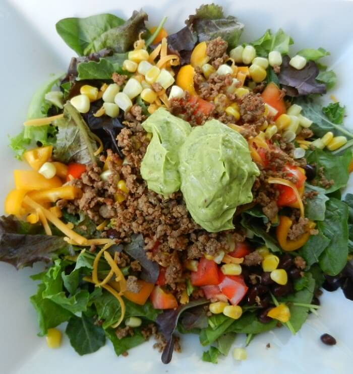 Taco Salad With Avocado Sauce