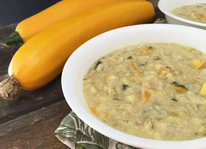 Corn Chowder And Squash Soup</strong>      <strong>