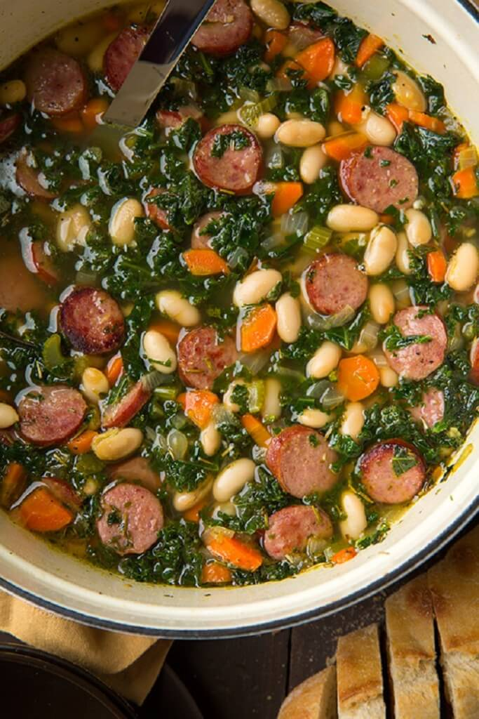 Kale, White Bean, And Sausage Soup