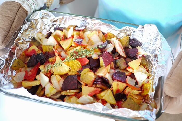 Roasted Mix Veggies With Parsley
