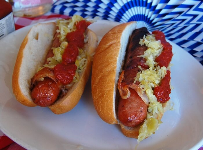 Salty Bacon Hot Dogs