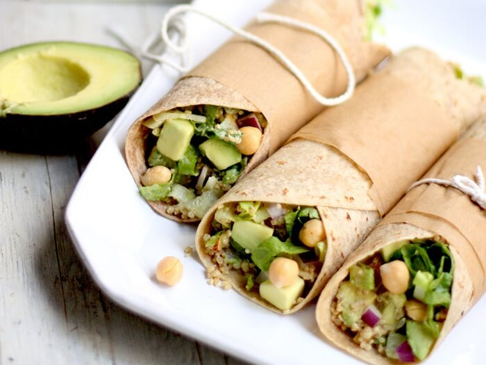 Spicy Avocado Wraps