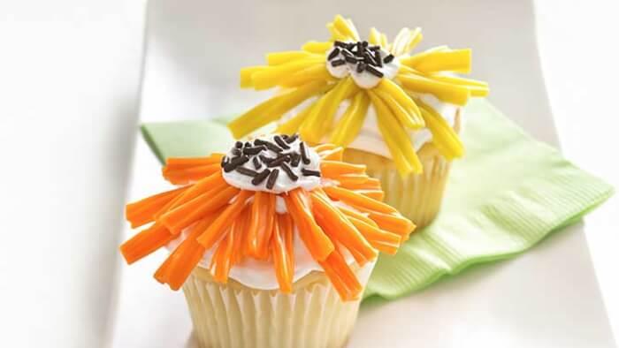 Spring Flowers Cupcake
