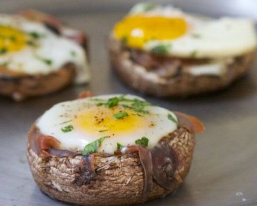 Mushroom with egg