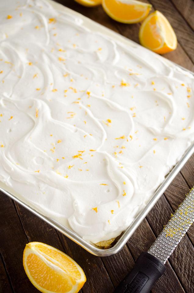 Creamsicle Sheet Cake