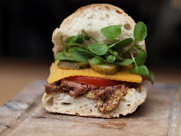 Roasted Beef Finger Sandwiches