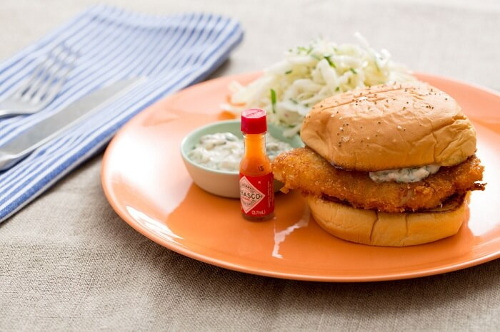 Toasted Crispy Buttered Fish Sandwich