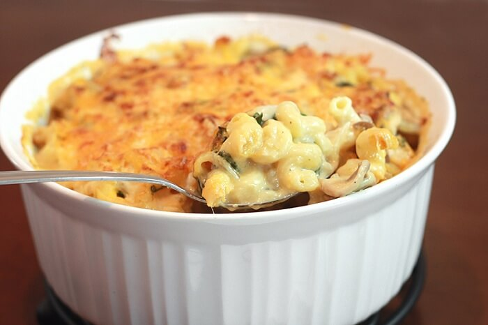 Chicken Three-Cheese Penne Florentine