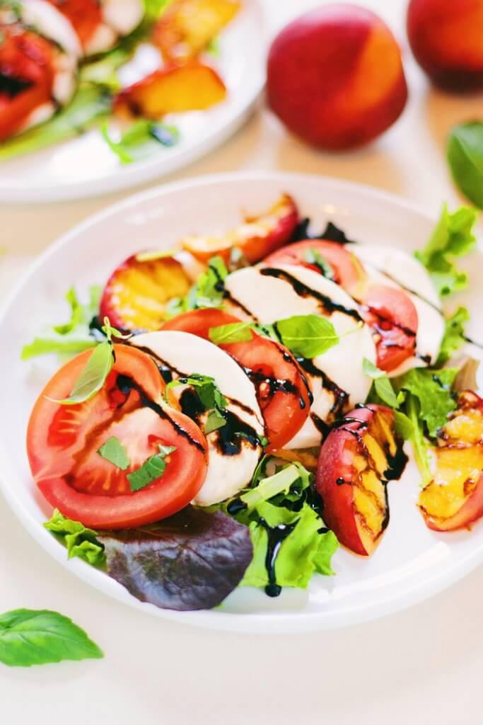 Caprese Peach Salad