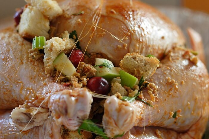 Cranberry, Apple, And Sausage Stuffing